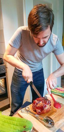 Kassler, being cut