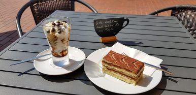 Awesome ice-cream and cake!