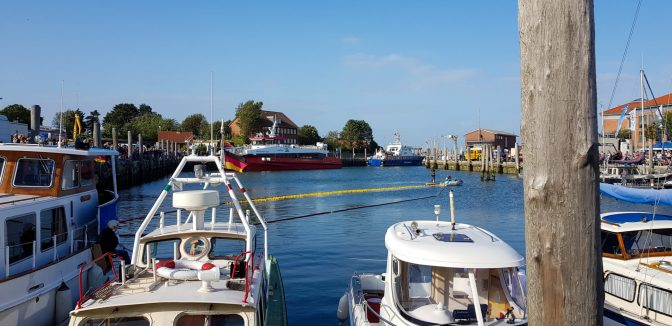 Habour prepared for the duck race