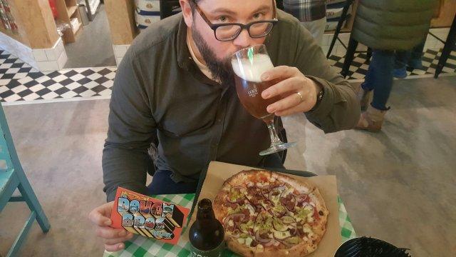 Irish craft beer and pizza