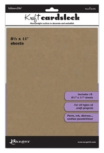 Ranger 8.5 x 11 KRAFT CARDSTOCK Inkssentials Surfaces ISM35244