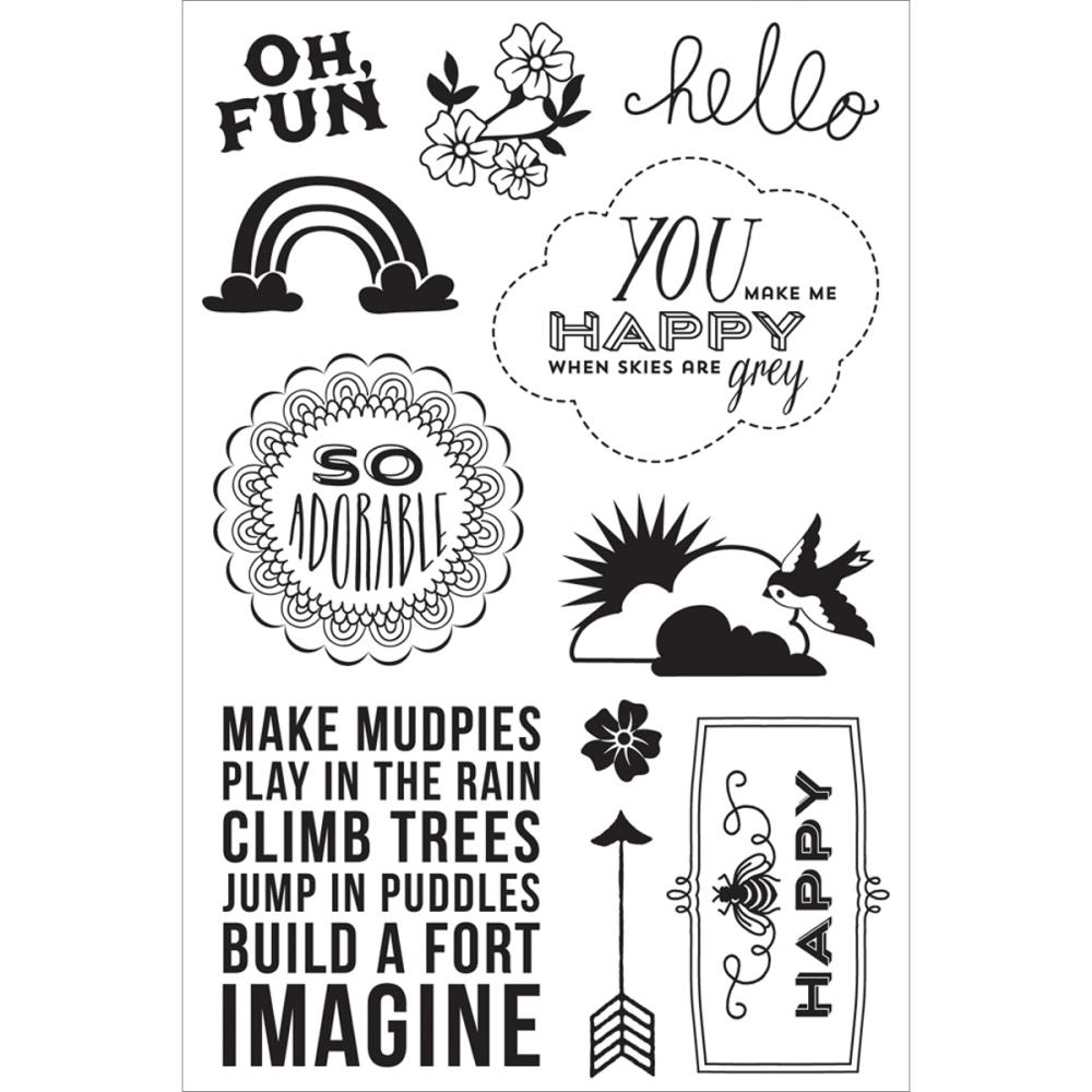 Hero Arts Clear Stamps OH FUN cl735 BasicGrey