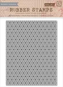 Hero Arts Cling Stamp HERBS N HONEY STAR BACKGROUND BasicGrey CG632