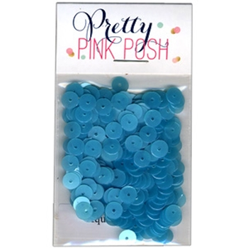 Pretty Pink Posh AQUAMARINE Flat 6mm Sequins