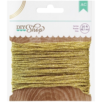 American Crafts TWINE Gold DIY Shop 369055