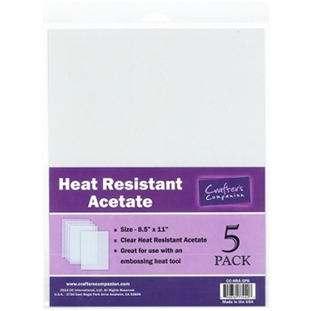 Crafter's Companion HEAT RESISTANT ACETATE Pack CC-HRA-5PK