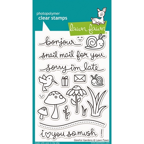 Lawn Fawn Gleeful Garden Clear Stamps Set