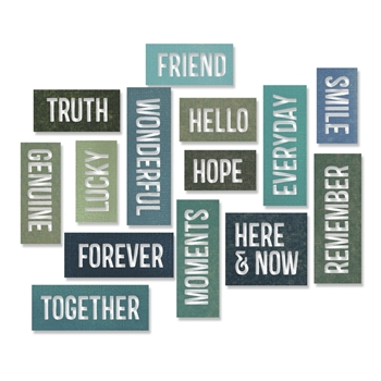 Tim Holtz Sizzix FRIENDSHIP WORDS BLOCK Thinlits Die 660213