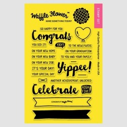 Waffle Flower Congrats Clear Stamp