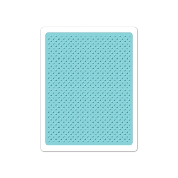 Sizzix DOTS 7 Embossing Folder Textured Impressions 660405