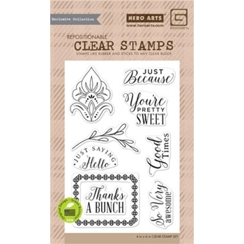 Hero Arts Clear Stamps YOU'RE PRETTY SWEET BasicGrey CL859