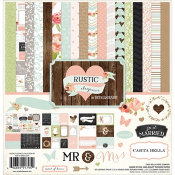 Carta Bella RUSTIC ELEGANCE 12 x 12 Collection Kit CBRE41016