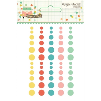 Simple Stories SUMMER VIBES Enamel Dots 6331