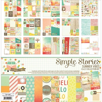 Simple Stories SUMMER VIBES 12 x 12 Collection Kit 6300