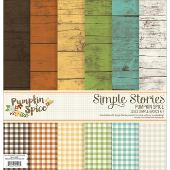 Simple Stories PUMPKIN SPICE 12 x 12 Basics Kit 4601