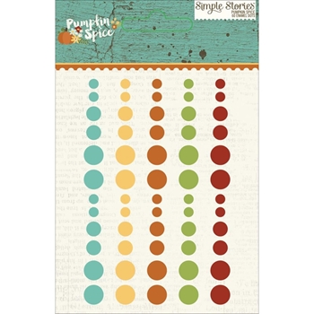 Simple Stories PUMPKIN SPICE Enamel Dots 4631