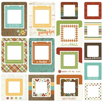 Simple Stories PUMPKIN SPICE Chipboard Frames 4638