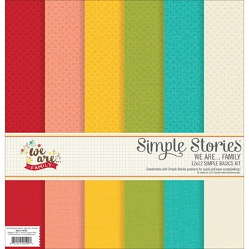 Simple Stories WE ARE FAMILY 12 x 12 Basics Kit 4701