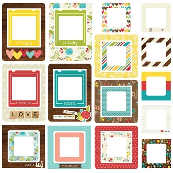 Simple Stories WE ARE FAMILY Chipboard Frames 4738