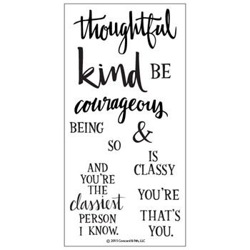 Concord & 9th BEING CLASSY Clear Stamp Set 10005C9