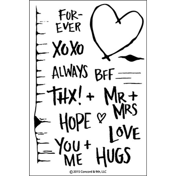 Concord & 9th TREE HUGS Clear Stamp Set 10041C9
