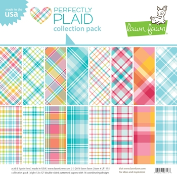 Lawn Fawn PERFECTLY PLAID 12 x 12 Collection Pack LF1115