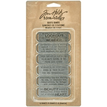 RESERVE Tim Holtz Idea-ology QUOTE BANDS Findings TH93290