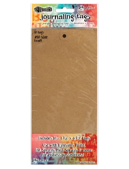 Ranger Dylusions KRAFT #10 Journaling Tags DYA47797