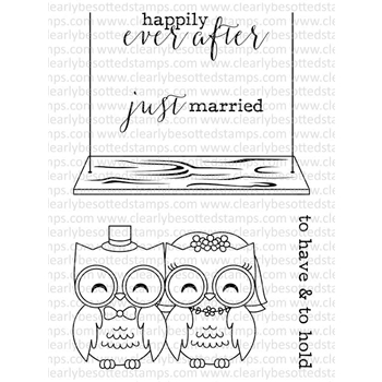 Clearly Besotted MR & MRS HOOT Clear Stamp Set