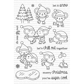 Clearly Besotted ON THIN ICE Clear Stamp Set