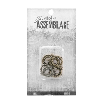 Tim Holtz Assemblage PACK OF 8 ORNATE OVAL LINKS THA20066