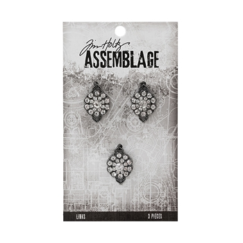Tim Holtz Assemblage PACK OF 3 GEMSTONE FLOWERS LINKS THA20032