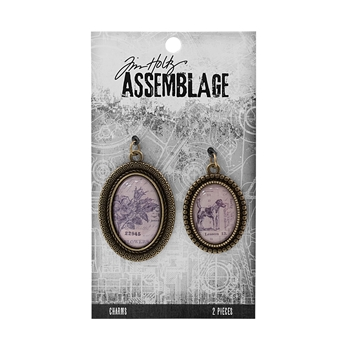 Tim Holtz Assemblage PACK OF 2 BRASS BEZELS CHARMS THA20025