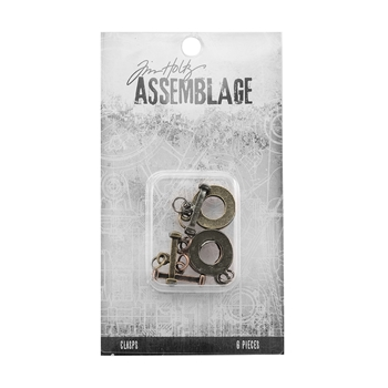Tim Holtz Assemblage PACK OF 6 FLAT TOGGLES CLASPS THA20052