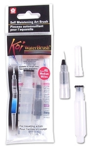 Sakura KOI MEDIUM WATERBRUSH Water Brush Watercolor #6 xqr-m