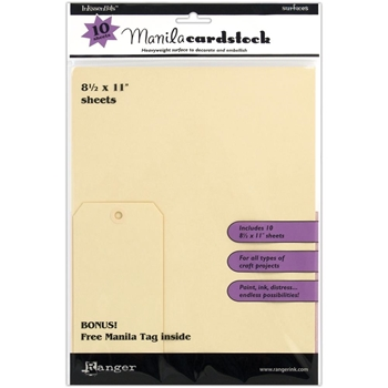 Ranger Inkssentials 8.5 X 11 MANILA CARDSTOCK Surfaces ISM28246
