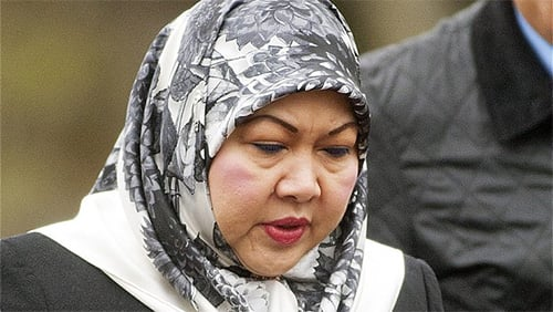 Mariam Aziz, ex-wife of the Sultan of Brunei, who lost millions of pounds gambling in London.