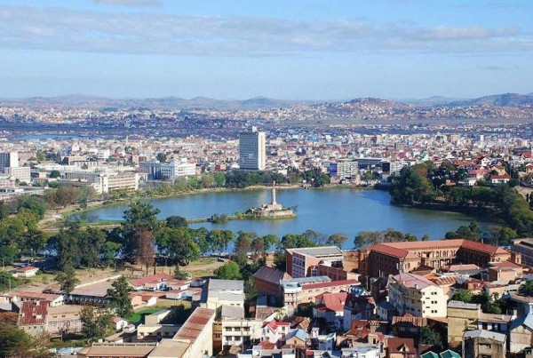Picture of Madagascar's capital city, Antananarivo. Gambling is legal and regulated in the country.