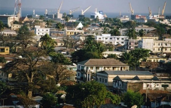Picture of Banjul, Gambia's capital city. Gambling is illegal in Gambia.
