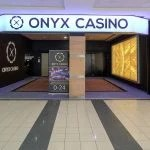 This is a picture of the entrance gate of Onyx Casino in Nyíregyháza, Hungary. you can read more about the casino next to the picture.