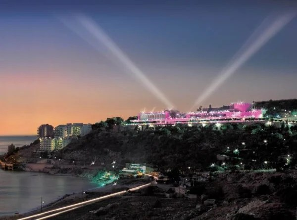 View of the Casino du Liban, the only casino in Lebanon in the evening