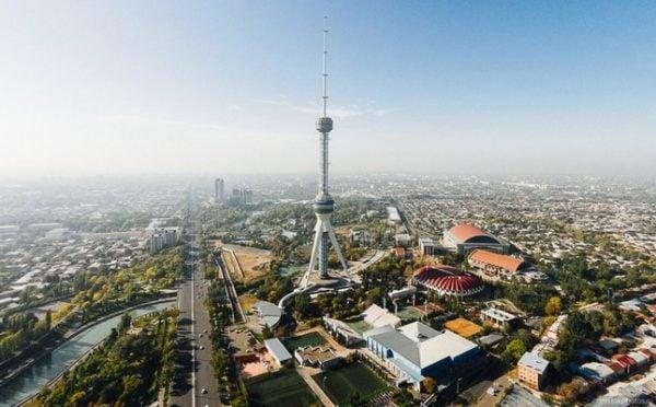 Aerial view of Tashkent, the capital of Uzbekistan