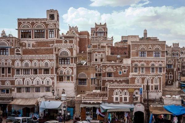 Buildings in Sana'a, the capital of Yemen