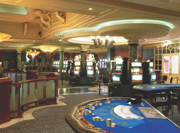 Gaming table in the Swakopmund Hotel & Entertainment Centre in Namibia