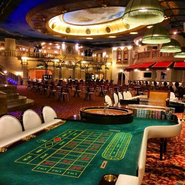 Roulette table in the Casino Europa in Tunisia