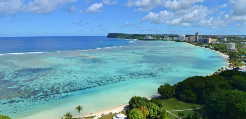 This is a picture of a beach near Hagåtña, capital of Guam. On this page you can read about the legal status of casino gambling in Guam, taxation, licensing, age requirement, and you can find a list of land-based casinos in Guam.