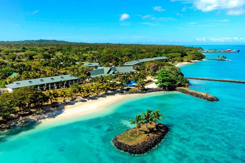 This is a picture of Whitesands Casino Samoa - Mulifanua, the only currently operating casino in Samoa. On this page you can read about the legal status, licensing, taxation of land-based casinos, online casinos and bitcoin casino gambling establishments in Samoa. A list of online casinos accepting players from Samoa can also be found on this page.