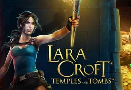 This is the logo of the Lara Croft Tomb Raider slot machine.