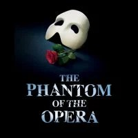 This is the logo of the Phantom of Opera musical based Microgaming gambling free-to-play slot.