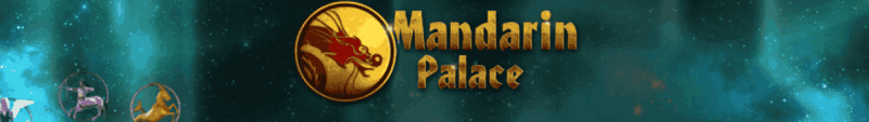 """This is the official logo of the Mandarin Palace Casino . The picture consist of the words """"Mandarin Palace"""" over a background consisting of cosmic clouds, stars and nebulae. There is also the symbol of the casino on the picture, which is a dragon on a gold coin. On this page, under the picture, you can read the review of Mandarin Palace, which is a known rouge casinos, which steals from players and affinities. Not recommended."""